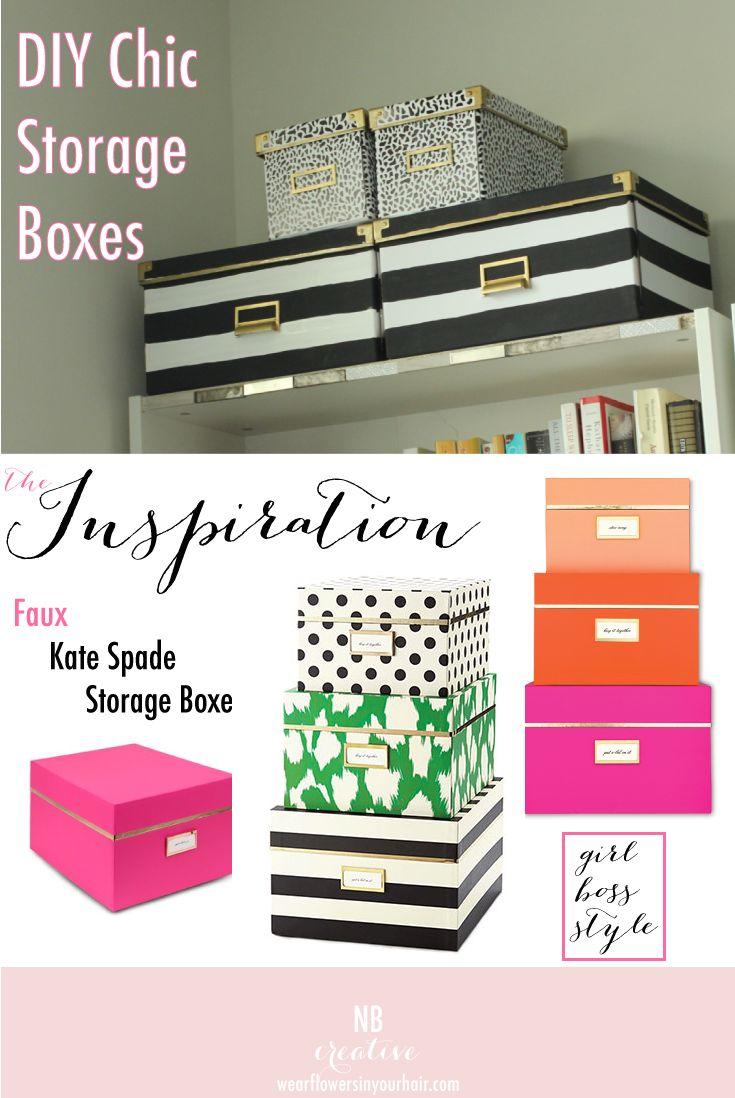 DIY Kate Spade Inspired Storage Boxes-Flowers in my Hair