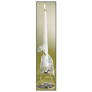 """Lighting Taper Candles (2 -10"""") Bridal Beauty Calla Lily Collection"""