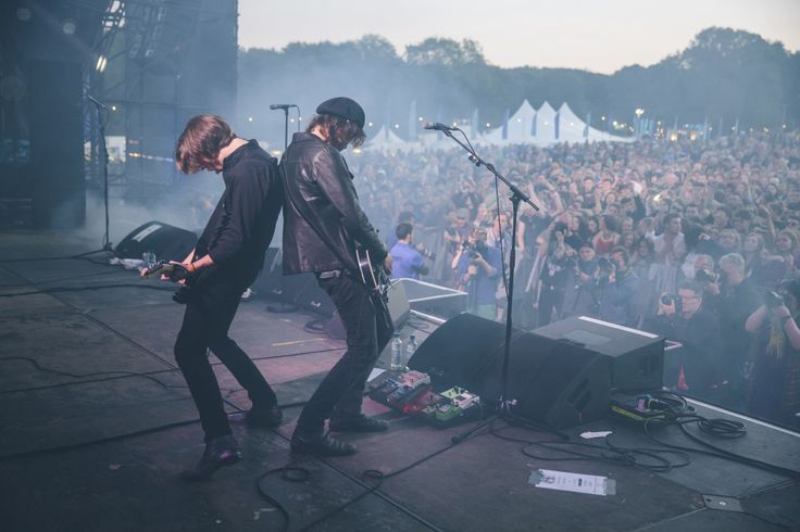 Catfish and the Bottlemen perform at sunset on the second day of Festival No.6
