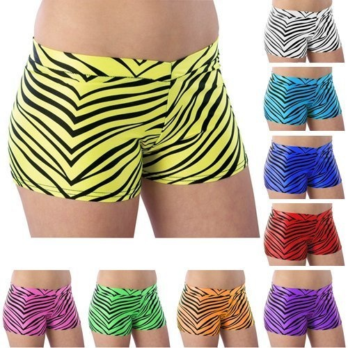 Pizzazz Multi Color Zebra Nylon Spandex Girls Sho ($35) Can never have enough spandex >>>>