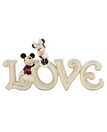 Lenox Collectible Disney Figurine, Mickey Mouse and Friends Mickey and Minnie True Love