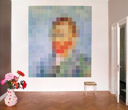 Whoa! Famous works of art...pixelated!