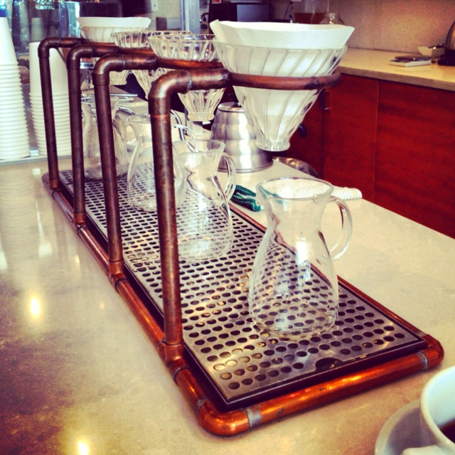Pour over coffee bar Bru in Silverlake, CA