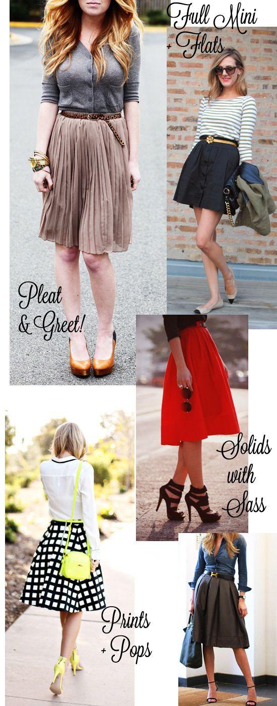 Circle skirt styling ideas