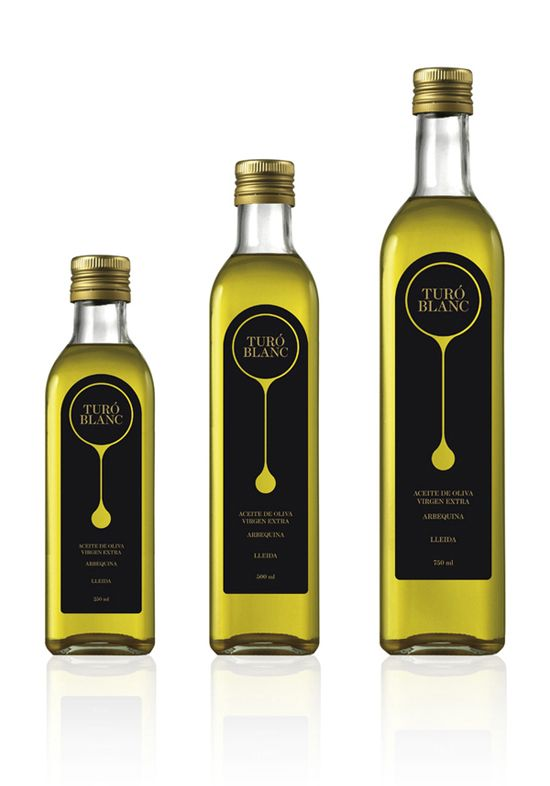 Turó Blanc Olive Oil Packaging