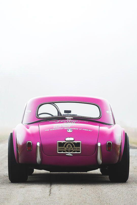 "mithatc: ""thevisualvamp: "" fullthrottleauto: "" Something for my female followers 1963 Shelby Cobra Coupe Dragonsnake (CSX 2093) (#FTA) "" Men like pink too "" """