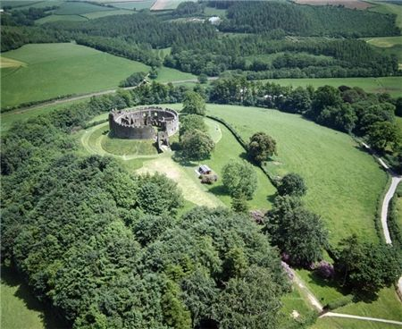 Restormal Castle, Cornwall, UK built in 1100 and one of the oldest and best preserved Norman castles in Cornwall