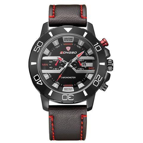 MAN GIFT Luxury Date Sport Leather Wrist Watch Waterproof Analog Quartz Watches.