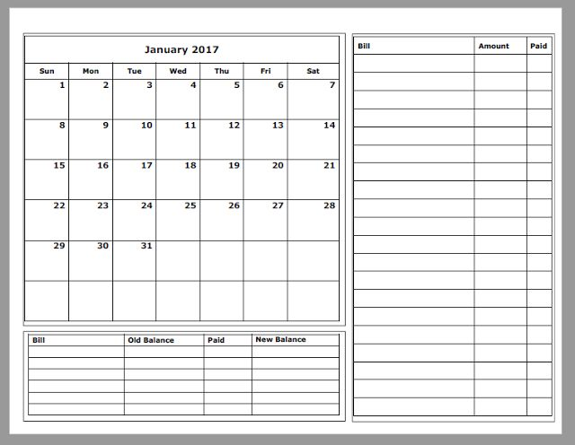 grace christian homeschool  free 2017 budget calendars