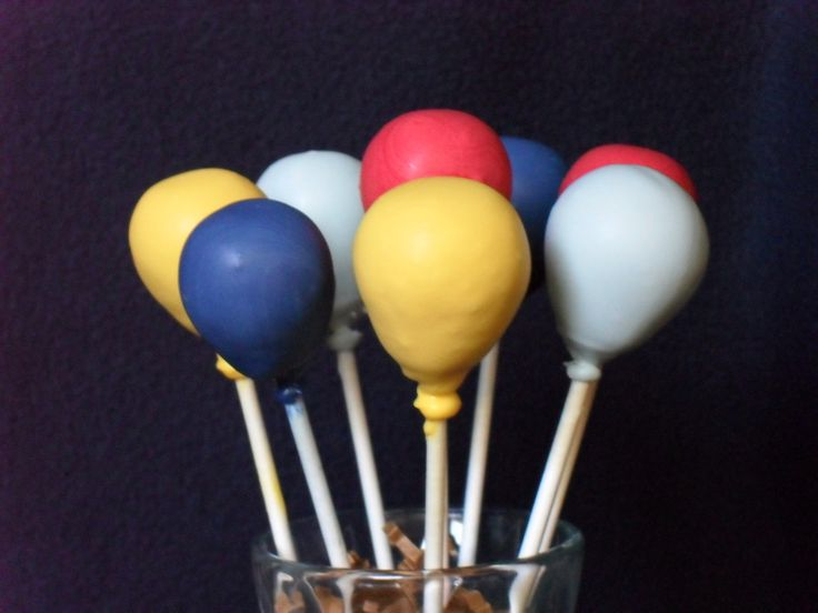 Balloon cake pops by CrumbsCakePops on Etsy