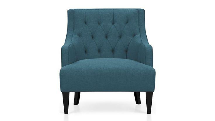 Tess Chair - Aquamarine | Crate and Barrel