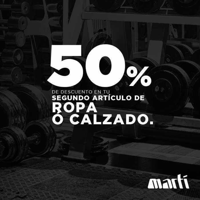 La tienda de deportes Martí tiene para ti una increíble promoción en calzado y ropa deportiva todo lo que resta de octubre 2017:Compra unos tenis o un