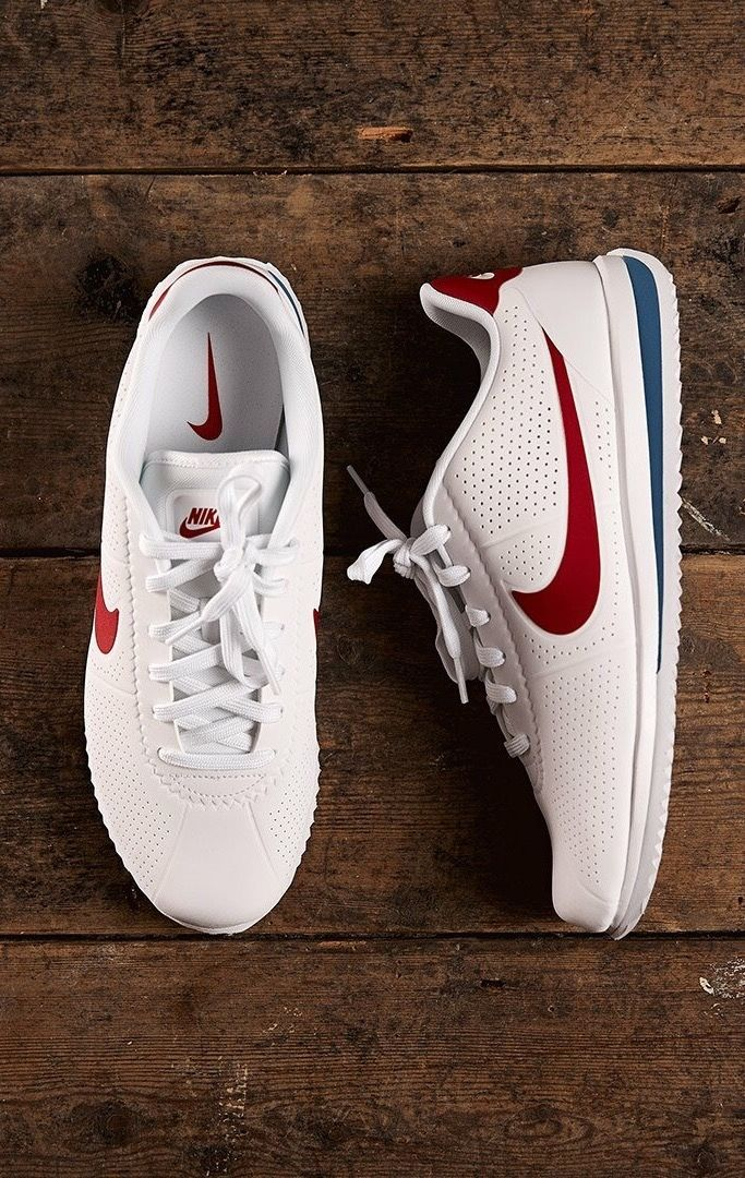 Shoes with a European soccer vibe. Bring in pops of red and brighter blues