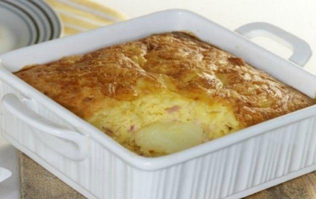 Σουφλέ πατάτας με τυριά και αλλαντικά - iCookGreek
