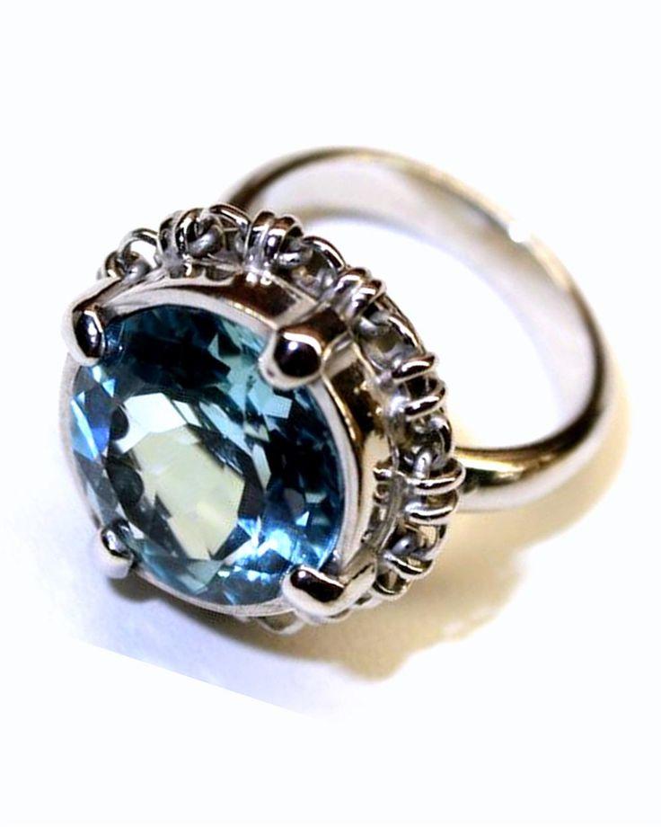 DgosiACrhAN   Blu Topaz Links Ring   Ring   Jewellery   Del Brenna