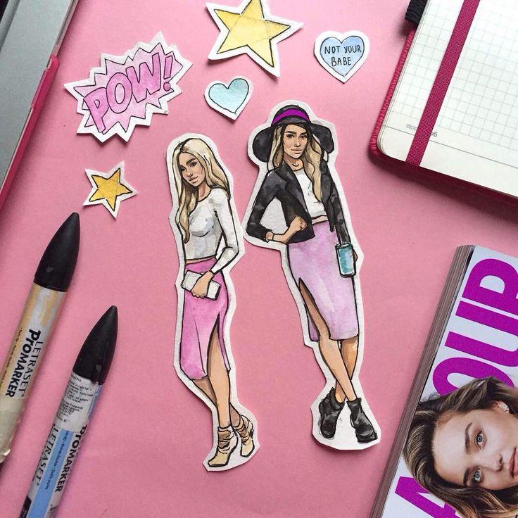 #fashionillustration #illustration #glamour #fashionmood #tskirt #девочкитакиедевочки #barbie #barbieworld #pinkmood #fashiongirl #fashionpassion