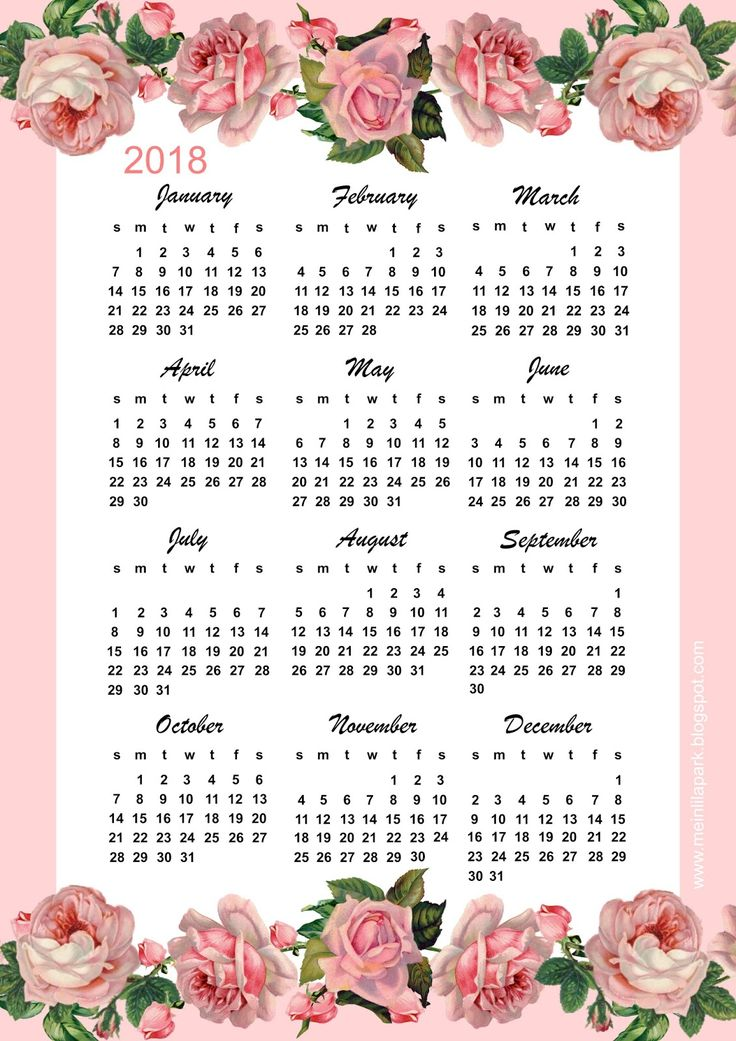 326 best FREE printable 2018 calendars images on Pinterest - photo calendar