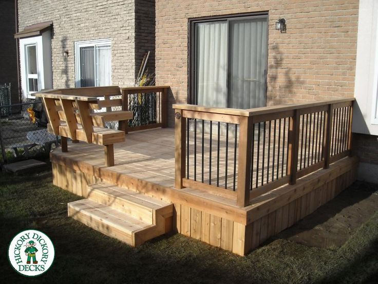 Simple Deck With Bench Like The Wooden Skirting Never