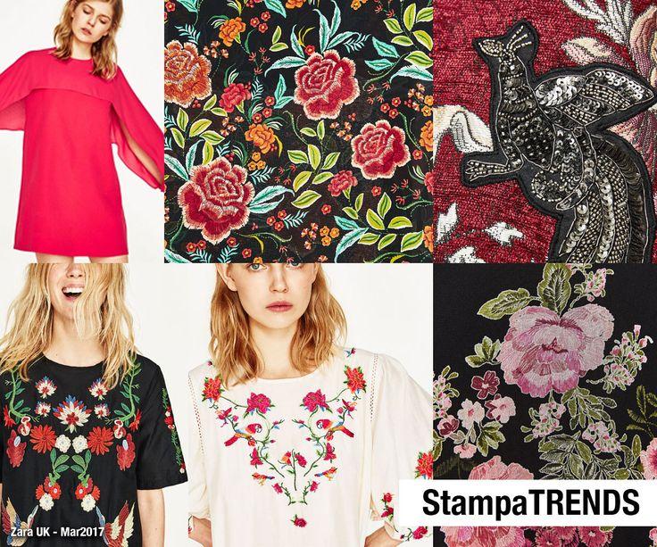 Lojas Internacionais (Imagens Zara UK Março 2017) Verão 2018 - texturas, bordado, relevos, crochê, florais, botânicos e efeitos manuais. Modelos apresentados em lojas online em Março de 2017. As lojas começam a sair do inverno e iniciam aos poucos...