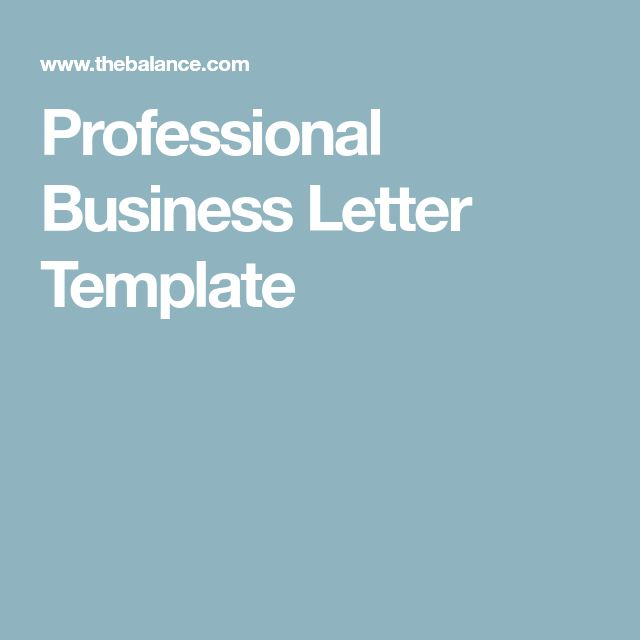 The 25+ best Business letter format ideas on Pinterest Letter - sample business letters format