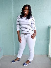 Curves and Confidence | A Miami Style Blogger: More Stripes and More White