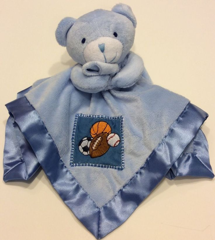 Lovey Small Wonders Blue Teddy Bear Baby Security Blanket