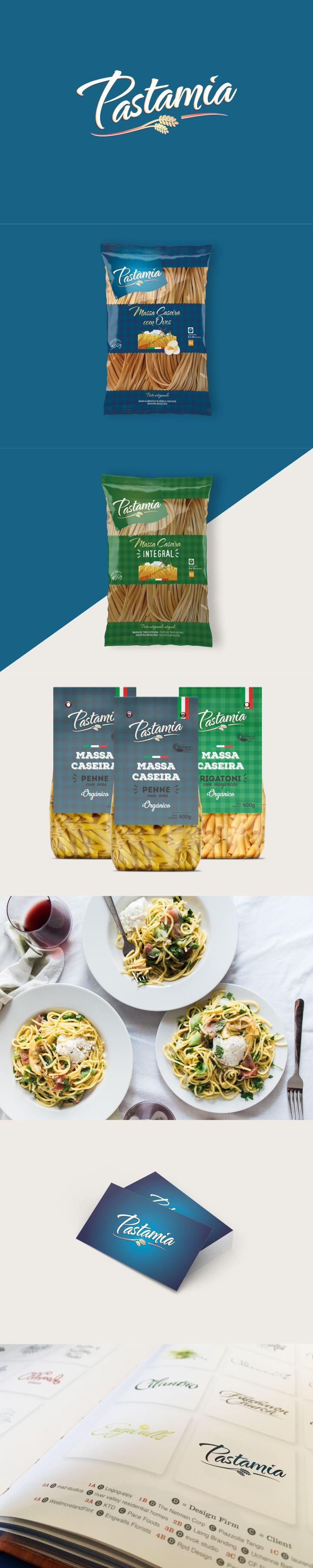 Criação de naming, logotipo e identidade visual para massas caseiras Pastamia