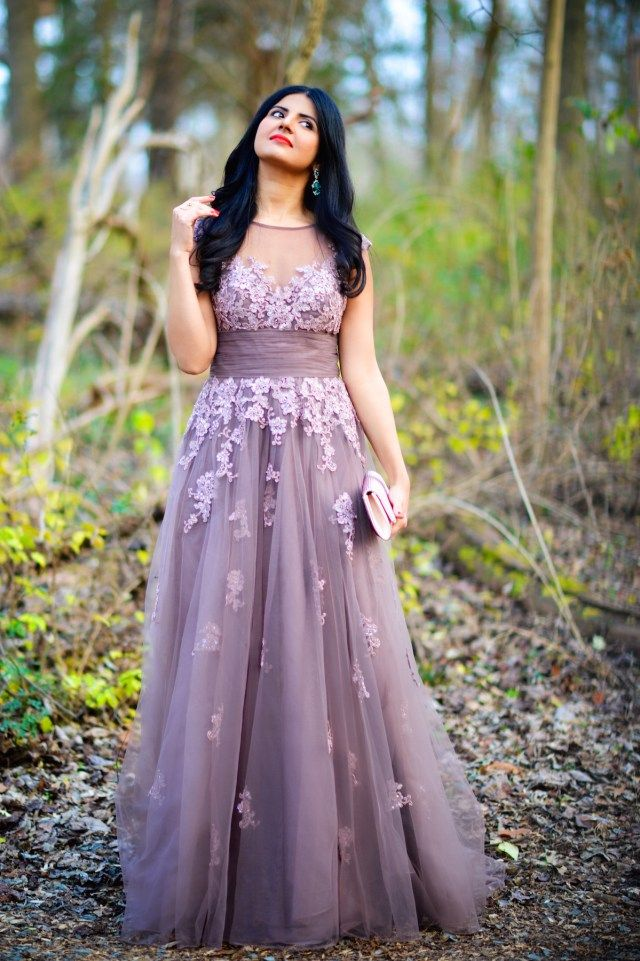 Empire Tulle Gown