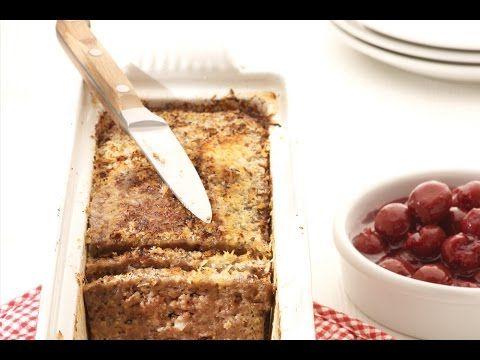 Recept voor gehaktbrood met warme kriekjes   njam!