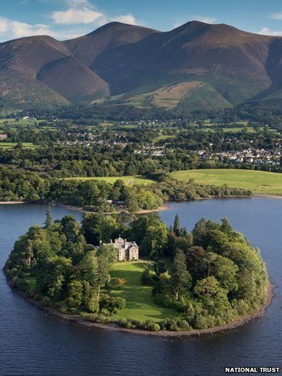 Derwent Island House, The Lake District, Cumbria, England.