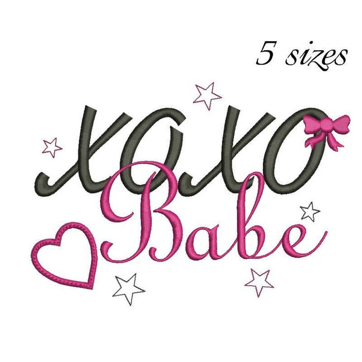 Xoxo Babe machine embroidery design love designs instant digital download Valentin Valentine's Day pattern designs in the hoop file towel by SvgEmbroideryDesign on Etsy
