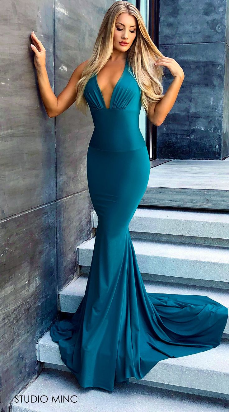 Teal Cancun In 2020 Backless Prom Dresses Simple Prom