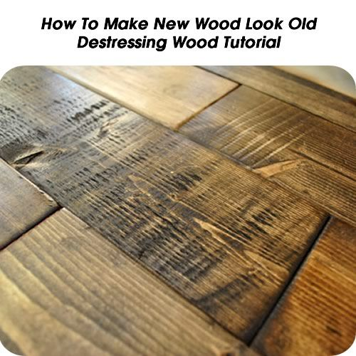 how to make painted wood look old