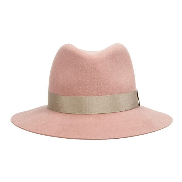rag & bone Women's Floppy Brim Fedora - Cork ($285) ❤ liked on Polyvore featuring accessories, hats, cappelli, peach, brimmed hat, floppy brim fedora, rag bone hat, fedora hat and floppy fedora