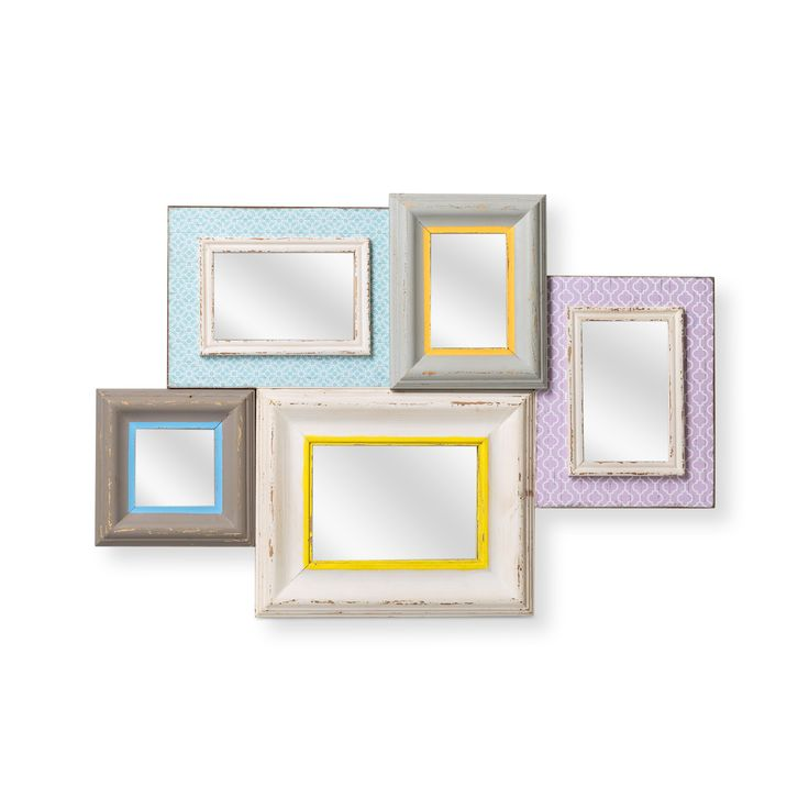 Buy Multi Five Pastel Brights Mirror Frame from Oliver Bonas