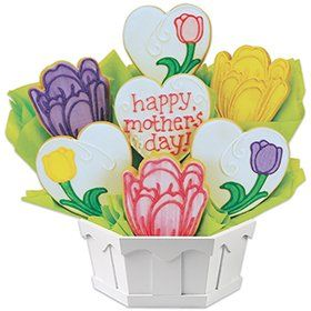 Moms Tulip Blossoms Cookie Bouquet | Unique Gift Baskets | Cookie Delivery
