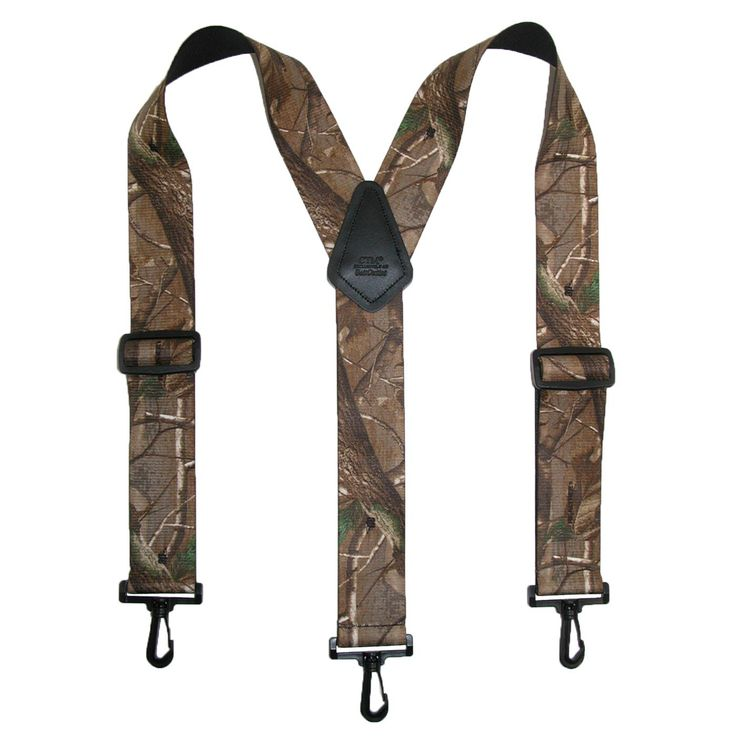These camo suspenders are perfect for the outdoorsman in your life. The 2 inch thick straps create a firm and secure hold and the swivel hooks easily clip onto your pant belt loops for a comfortable fit. These suspenders are great for traveling since the adjusters and hooks are plastic, they are airport compliant.