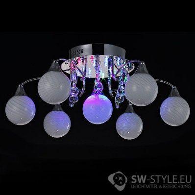 Design Deckenleuchte 007 7C LEDs Farbwechsel Fernbedienung