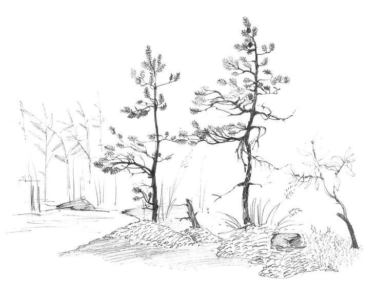 lake easy drawings sketch