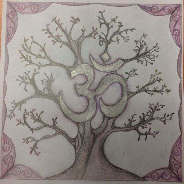 """#ohm #treeOm (Oṃ)  Like many mantras, this one begins with """"Om"""". Om has no meaning, and its origins are lost in the mists of time. Om is considered to be the primeval sound, the sound of the universe, the sound from which all other sounds are formed."""