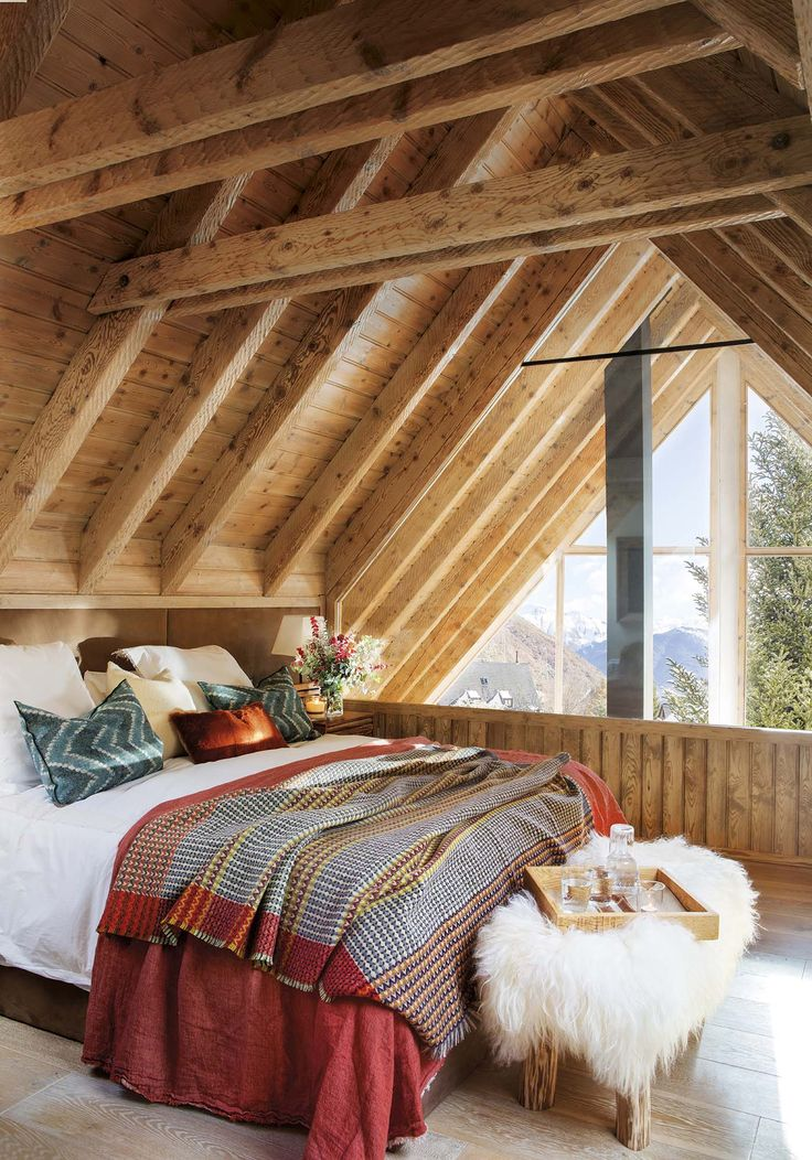 Charming rustic cabin for winter getaways in the Pyrenees mountains