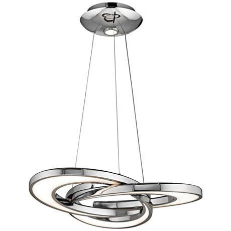 Elan Destiny 27 3/4″ Wide Chrome LED Chandelier – #8W234   Lamps Plus