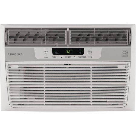 Frigidaire FFRE0833S1 8,000 BTU 115V Window-Mounted Mini-Compact Air Conditioner with Temperature-Sensing Remote Control, White