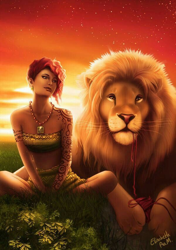 Лев и женщина картинки романтика