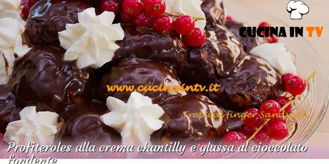 Profiteroles alla crema chantilly e glassa al cioccolato fondente ricetta Stefano da Bake Off Italia | Cucina in tv