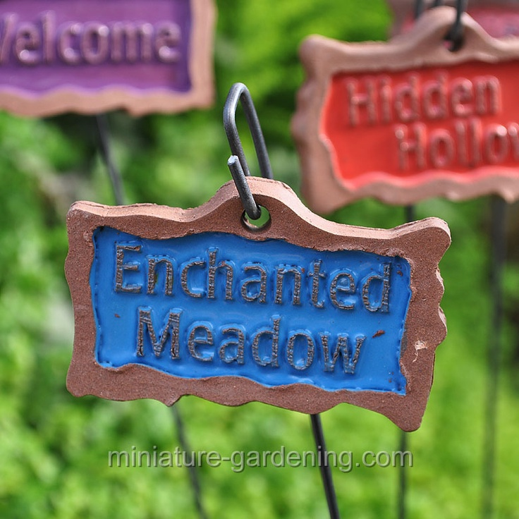 17 Best Images About Mini Garden: Signs On Pinterest