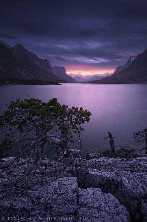 Purple Mountain Majesties The Secret, Glacier National Park, Montana, USA, by Alex Noriega, on 500px.