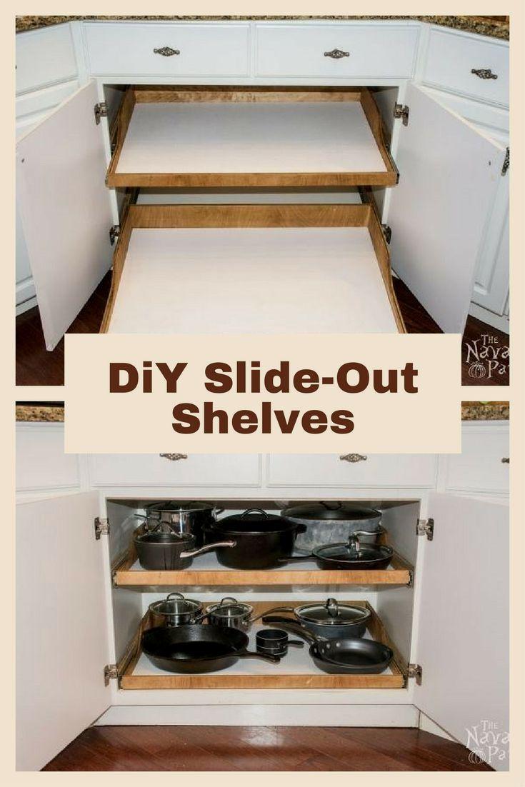 Best Kitchen Cabinet Diy Ideas Diy Kitchen Renovation Slide Out Shelves Kitchen Design