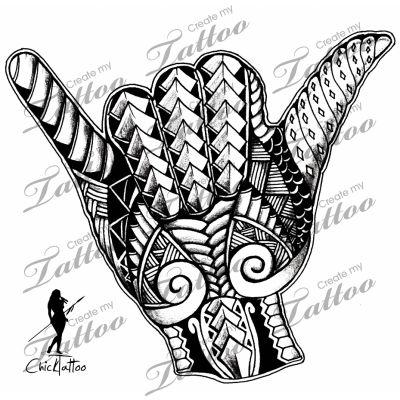 Marketplace Tattoo Polynesian Shaka Tribal #8212 | CreateMyTattoo.com