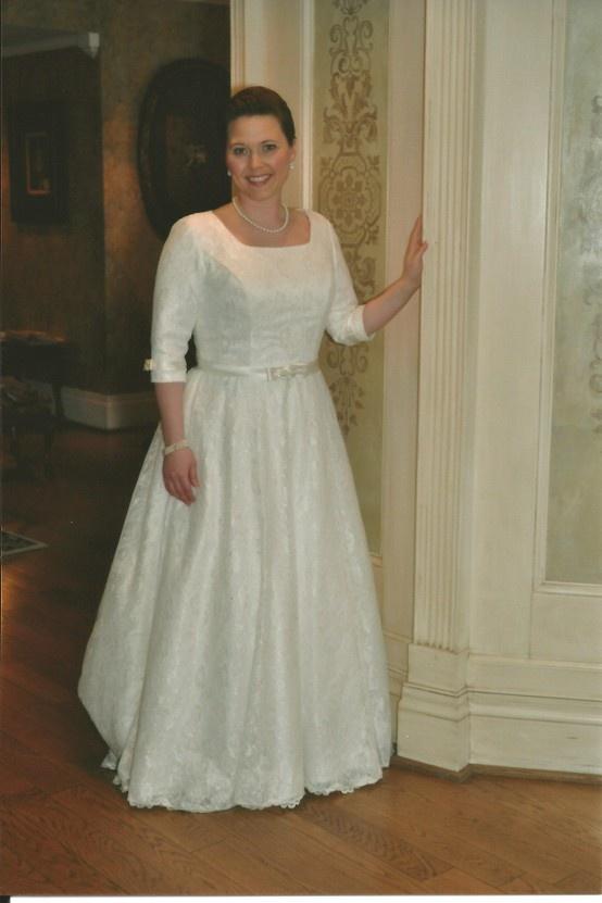 Modest Wedding Dress from WeddingDressFantasy.com and CoutureDeBride.com modest wedding dress sleeves tzniut tznius kallah gown